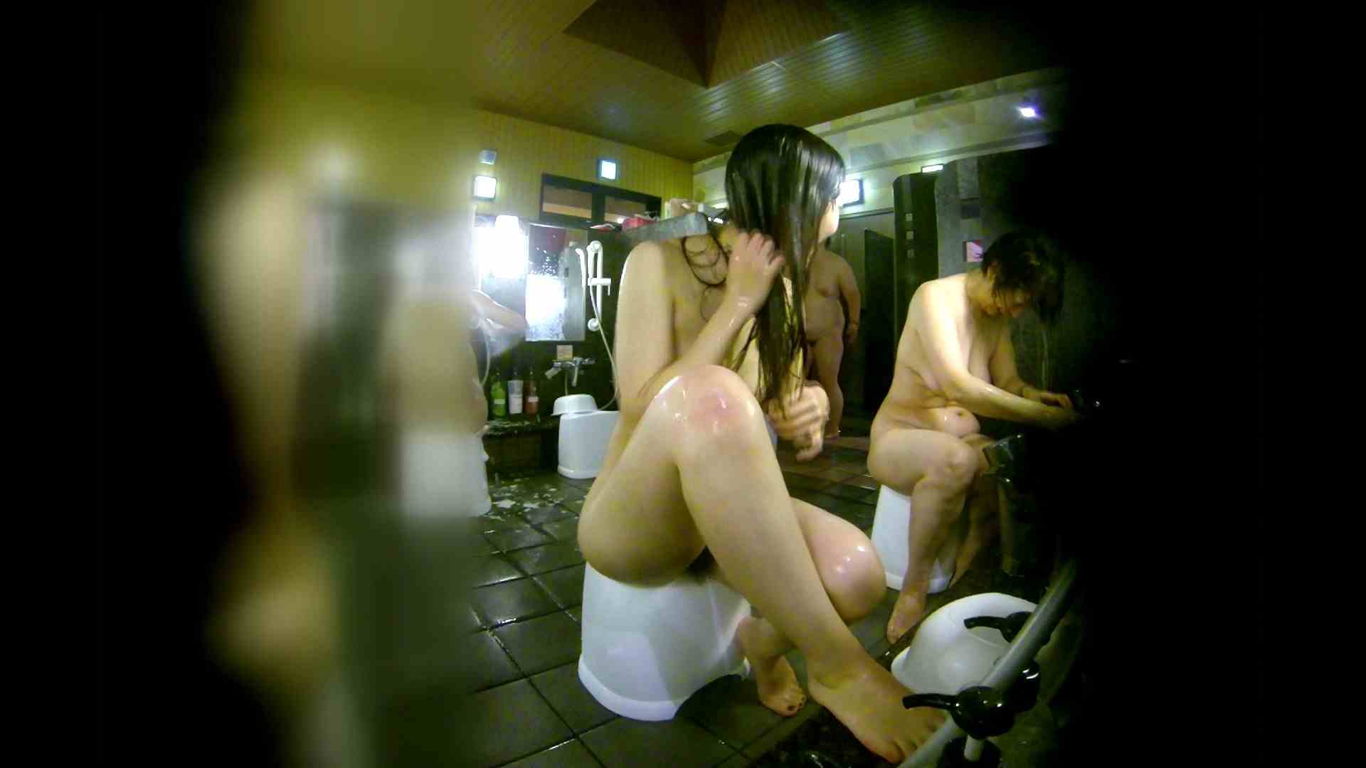 洗い場!右足の位置がいいですね。陰毛もっさり! 銭湯  113pic 33